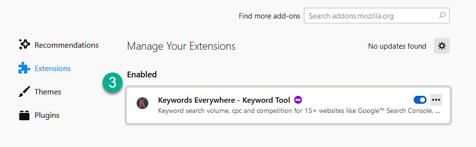 Find Firefox Addon