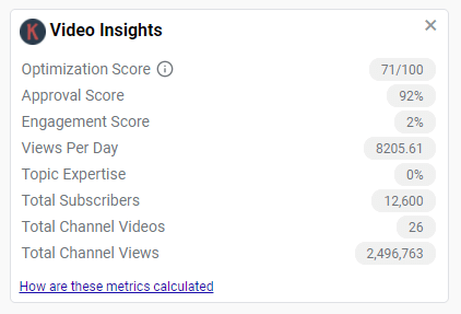 YouTube Video Insights